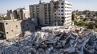 Edificio derruido en Gaza