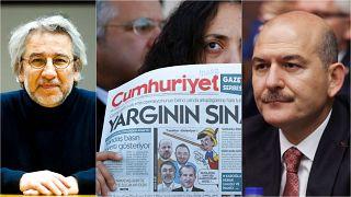 Cumhuriyet Gazetesi'nin açıklaması sonrası sosyal medyada birçok isim gazeteci Can Dündar'a destek mesajı yayımladı, gazete yönetimini eleştirdi.