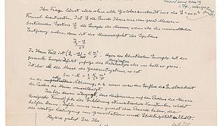 Albert Einstein'ın el yazısıyla kaleme aldığı mektup