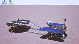 El astromóvil chino Zhurong inicia su inédita exploración en Marte