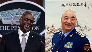 ABD Savunma Bakanı Lloyd Austin //  Çin Merkez Askeri Komisyonu Başkan Yardımcısı General Xu Qiliang