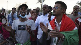 من مظاهرات في الخرطوم في أيار/مايو