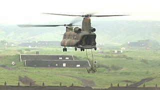 Maniobras del ejército en Japón