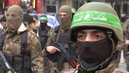 Hamas armed wing hold military parade in Gaza city