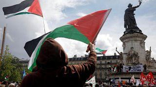 مظاهرات لدعم الفلسطينيين في باريس