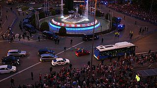 Celebración en la Plaza de Neptuno de Madrid
