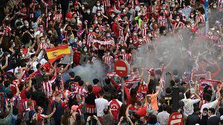 Die Atletico-Anhängerschaft feiert