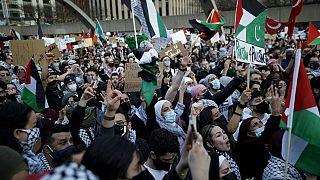 تظاهرات تضامناً مع الفلسطينيين - كندا