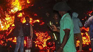 vulkánkitörés Gomában