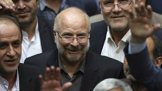 Mohammad Bagher Qalibaf,  after being elected as speaker of the parliament, in Tehran, Iran, on May 28, 2020.