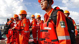 Kínai mentőalakulat egy korábbi bevetésen