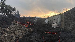 حمم بركانية شرقي غوما