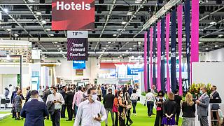 Busy halls of Dubai World Trade Centre