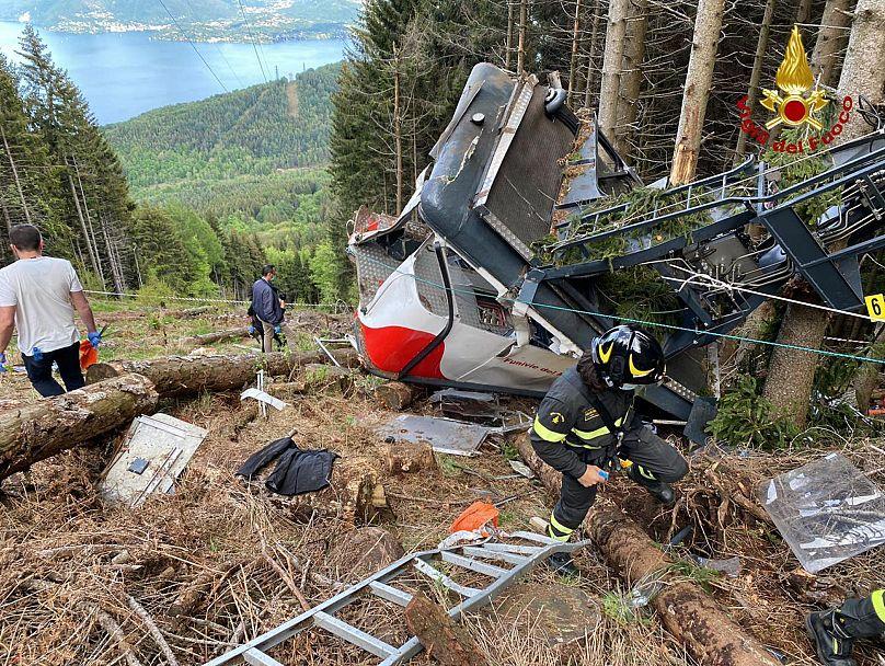 Italian Vigili del Fuoco Firefighters via AP