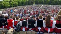 Authorities vaccinate thousands attending Catholic pilgrimage