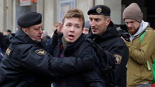 رامان پراتاسویچ، در زمان بازداشت در سال ۲۰۱۷