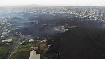 Lava from eruption destroys some homes in Goma