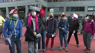 Protesta contra los alquileres caros en Berlín