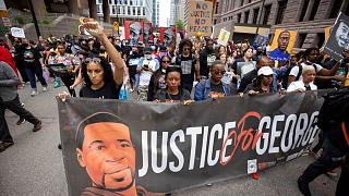 راهپیمایی در مینیاپولیس در آستانه سالگرد کشته شدن جورج فلوید