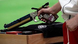 تمرین تیراندازان ژاپنی برای بازیهای المپیک
