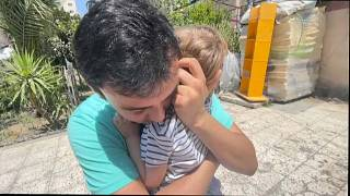 Traumatisiertes Kind in Gaza