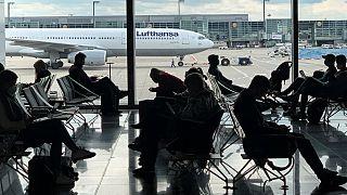 صالة انتظار في مطار فرانكفورت
