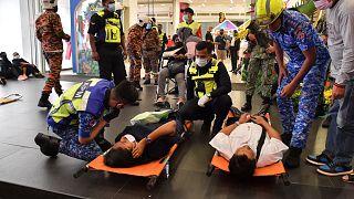 Malezya'nın başkenti Kuala Lumpur metrosunda tren kazası