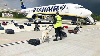 Die Ryanair-Maschine bei der erzwungenen Landung in Belarus