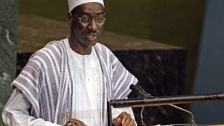 FILE - In this Sept. 21, 2006, file photo, Mali's Minister for Foreign Affairs Moctar Ouane addresses the 61st session of the UN General Assembly