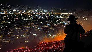 Imagen de un incendio en Santa Bárbara, California (20/05/2021)
