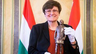 Karikó Katalin a Semmelweis-díjjal