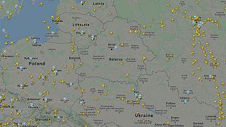 Воздушное движение во второй половине дня 25 мая