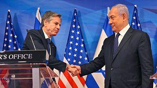 نخستوزیر اسرائیل و وزیر خارجه آمریکا