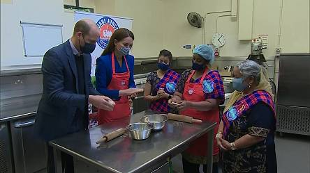 Prince William and Kate cook during first joint Scotland trip