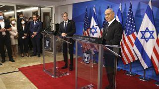 Госсекретарь США Энтони Блинкен на встрече с премьер-министром Израиля Биньямином Нетаньяху