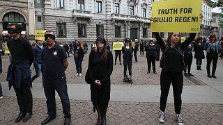 مظاهرة إيطالية تطالب بالقصاص من قتلة ريجيني