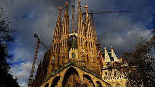 Vista general de la basílica de la Sagrada Familia de Barcelona
