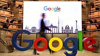شعار شركة غوغل العملاقة للبحث على الإنترنت في الولايات المتحدة