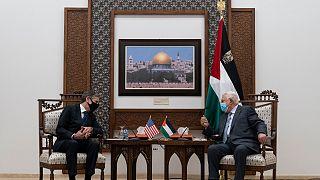 لقاء الرئيس الفلسطيني محمود عباس مع وزير الخارجية الأميركي أنتوني بلينكن في رام الله. 2021/05/25