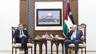 ABD Dışişleri Bakanı Antony Blinken ve Filistin Devlet Başkanı Mahmut Abbas
