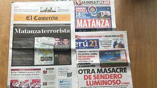 La prensa se hace eco de la matanza perpetrada por el grupo terrorista Sendero Luminoso en Perú.
