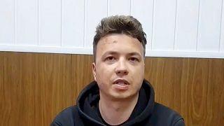 Raman Protassewitsch - auf einem Video der Behörden in Minsk