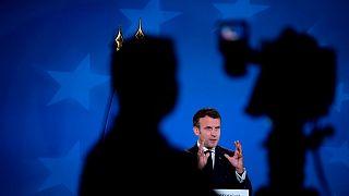 امانوئل ماکرون در اجلاس سران اتحادیه اروپا بروکسل ۲۴ مه