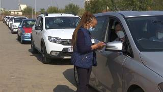 South Africa opens drive-through vaccination centers