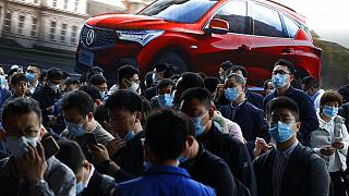 Feria de coches en Shangai
