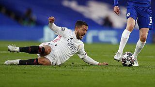 Eden Hazard, a Real Madrid játékosa a Chelsea elleni BL-elődöntő visszavágóján 2021. május 5-én