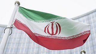 Η σημαία του Ιράν έξω από το κτίριο της Διεθνούς Υπηρεσίας Ατομικής Ενέργειας στη Βιέννη.