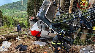 İtalya'da teleferik kazası
