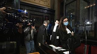 Lawyer for AstraZeneca Clemence Van Muylder arrives for a hearing, European Commission vs AstraZeneca, at the main courthouse in Brussels, Wednesday, May 26, 2021