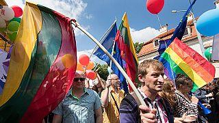 La sfilata per il Baltic Pride che si è tenuta a Vilnius il 18 giugno 2016